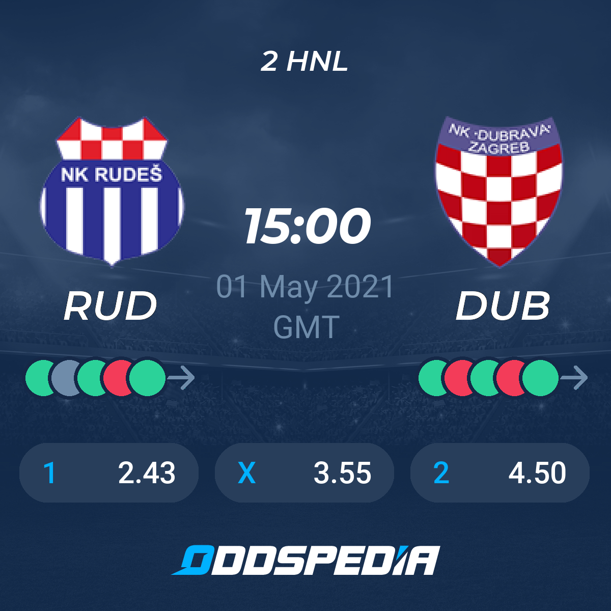 Nk Rudes Nk Dubrava Zagreb Odds Livescore In Real Time Live Stream